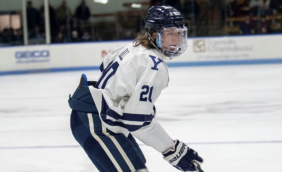 Yale leading point-getter Hall finding ways to score goals, says 'it's hard to say why'