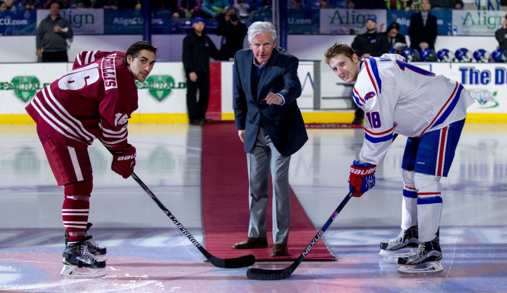 USCHO GAME OF THE WEEK: As battle of UMass schools looms, Meehan relishes in each team's success, sees hockey, athletics as 'front porch of any university'
