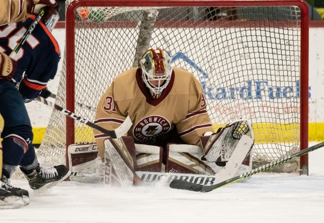 Norwich goalie Aubrun tabbed NEHC Hockey player, goaltender of the year; Castleton's Moise top rookie, Norwich's Ellsworth top coach