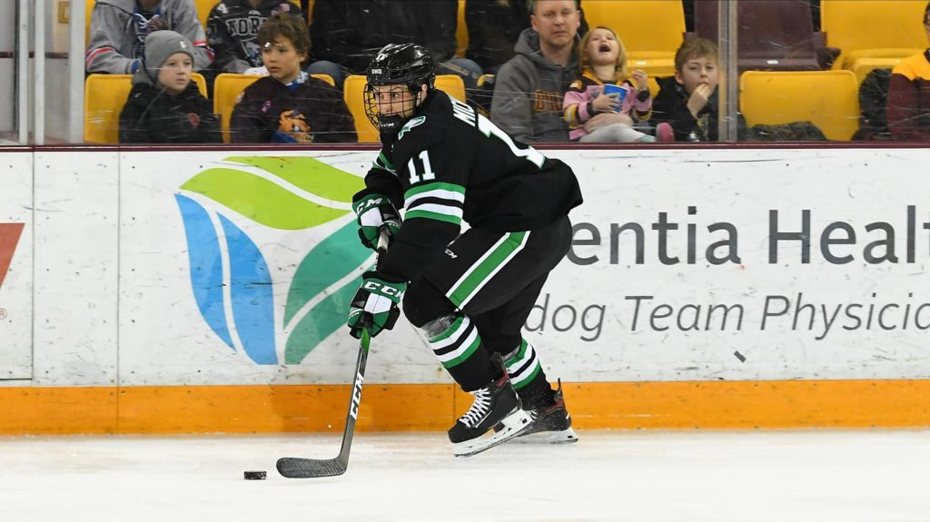 USCHO GAME OF THE WEEK: Grad transfer Michaud leading top-ranked North Dakota for home series against Denver