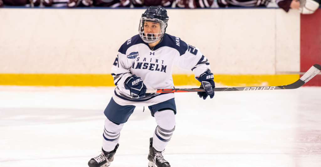Sprague's OT winner lifts St. Anselm past Franklin Pierce in NEWHA semifinals to end longest women's hockey game in NCAA history