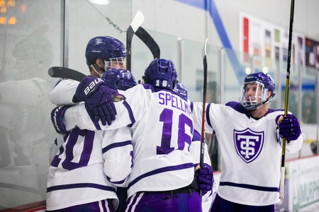 D-III West College Hockey Playoff Wrap: Tommies stun rival Johnnies